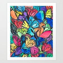 Butterfly Spark Art Print