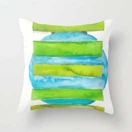180818 Geometrical Watercolour 5 Throw Pillow