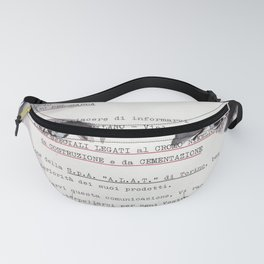 Veronica - ink drawing over vintage commercial invoice Fanny Pack