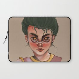 just a girl with band-aid on her nose Laptop Sleeve