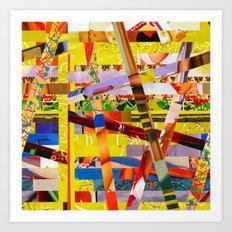 Jay (stripes 10) Art Print