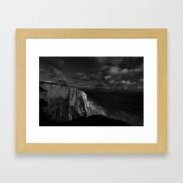 White Luminance Framed Art Print