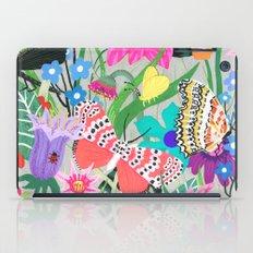 Butterflies and Moths Pattern - Grey iPad Case