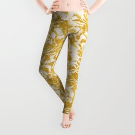 Golden carnations Leggings