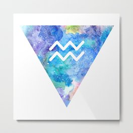 Aquarius Zodiac Metal Print