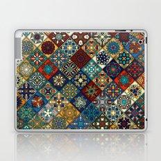 Vintage patchwork with floral mandala elements Laptop & iPad Skin