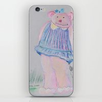 teddy bear iPhone & iPod Skins featuring teddy bear by Artemio Studio