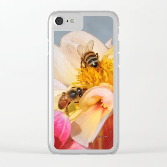 Honeybees at Work Clear iPhone Case