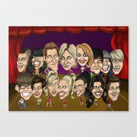 glee Canvas Prints featuring Glee Cast Caricature Artwork  by GinjaNinja1801