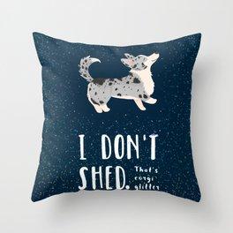 Corgi Glitter - Cardigan Welsh Corgi Throw Pillow