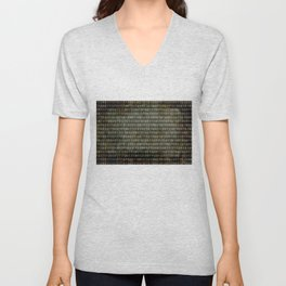 The Binary Code - Distressed textured version Unisex V-Neck