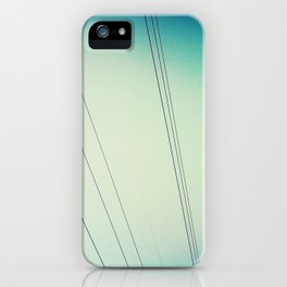 Power lines.  iPhone Case