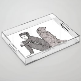 best friends Acrylic Tray