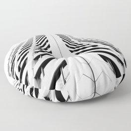 Keep Your Aim High (White Symmetry) Floor Pillow