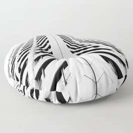 Keep Your Aim High (White Symmetry) Floor Pillow