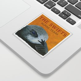 The Swifts - Alpine, Texas Swift Head Sticker
