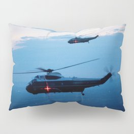 Support Helicopters Fly at Dusk Pillow Sham