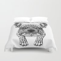 frenchie Duvet Covers featuring Frenchie by BIOWORKZ