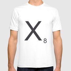 Scrabble X White Mens Fitted Tee MEDIUM