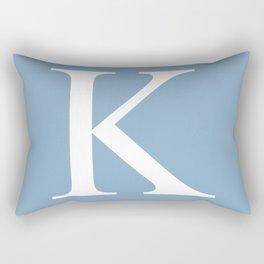 Letter K sign on placid blue background Rectangular Pillow