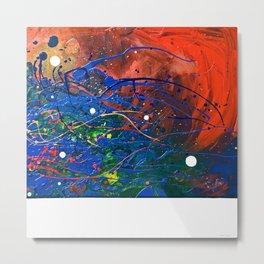 No 4, Pollock like abstract, NYC artist Metal Print