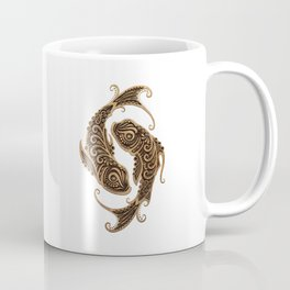 Vintage Rustic Pisces Zodiac Sign Coffee Mug