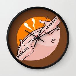 Suns Out Guns Out Zit Wall Clock