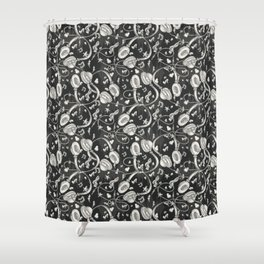 Discjockey Pattern | DJ Music Vinyl Turntables Shower Curtain