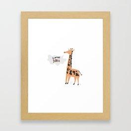 Love Giraffe Framed Art Print