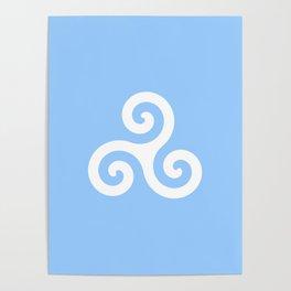 Triskele 9 -triskelion,triquètre,triscèle,spiral,celtic,Trisquelión,rotational Poster