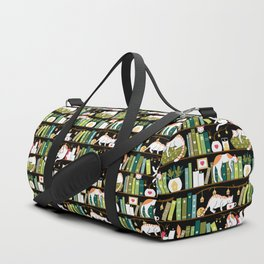 Library cats Duffle Bag