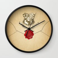 lannister Wall Clocks featuring HARRY POTTER ENVELOPE by Sophie