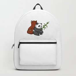 Grizzly Bear And Panda Bear Together Backpack