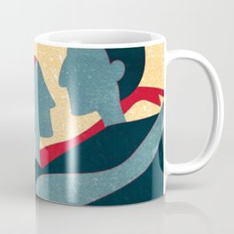 Tango Couple in Red, Blue and Gold Pop Art Coffee Mug