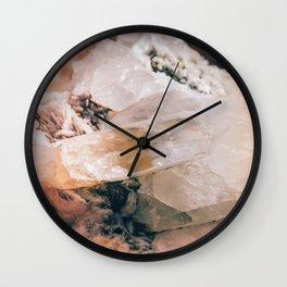 Dreamy Large Quartz Crystals Wall Clock