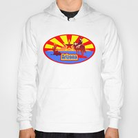 arizona Hoodies featuring Arizona by Anfelmo