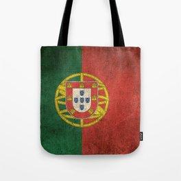 Old and Worn Distressed Vintage Flag of Portugal Tote Bag