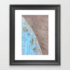 Turquoise Beach Wood I Framed Art Print