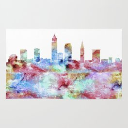 Cleveland City Skyline Rug