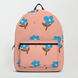 Abstraction_Little_Blue_Flowers Backpack