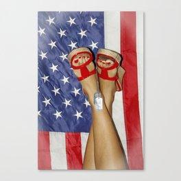 patriotic pin up Canvas Print