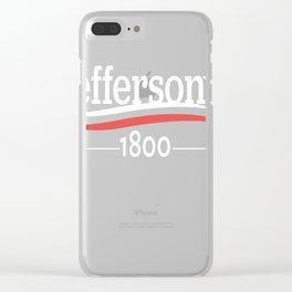 HAMILTON Musical THOMAS JEFFERSON 1800 Burr Election of 1800 Clear iPhone Case