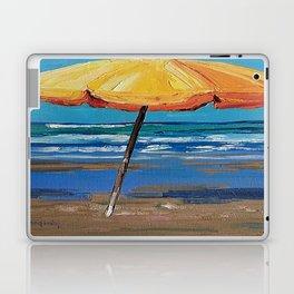 Yellow beach umbrella Laptop & iPad Skin