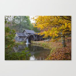 Rustic Mill in Autumn Canvas Print