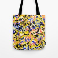 fight Tote Bags featuring Fight by Larionov Aleksey