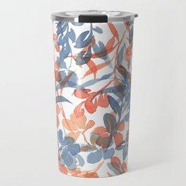 Watercolor Spring Flowers Cascading Travel Mug