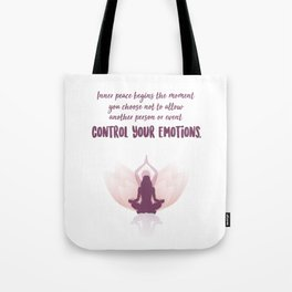 Inner Peace - Inspirational Self Love Quotes For Women Tote Bag