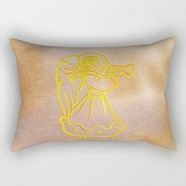 Golden Angel with trumpet Rectangular Pillow