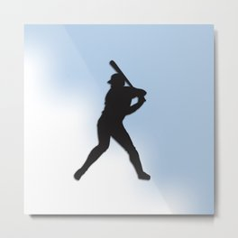 Batter Up Baseball Metal Print