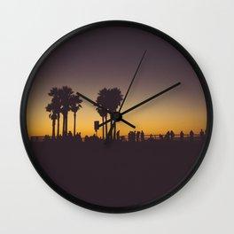 Venice Beach Sunset II Wall Clock